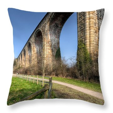 The Cefn Mawr Viaduct Throw Pillow by Adrian Evans