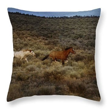 The Chase Is On D1215 Throw Pillow by Wes and Dotty Weber