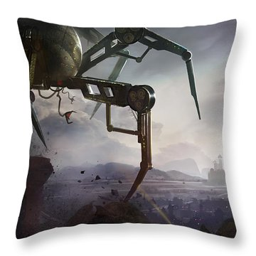 The Chase Throw Pillow by Kristina Vardazaryan
