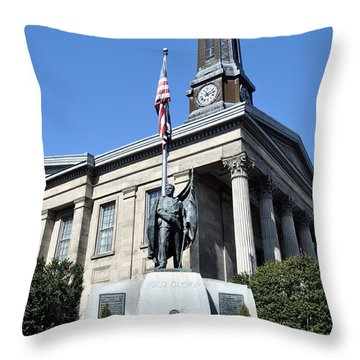 The Chester County Courthouse In West Chester Pa Throw Pillow by Bill Cannon