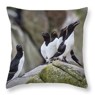 The Chorus Line Throw Pillow by Evelina Kremsdorf