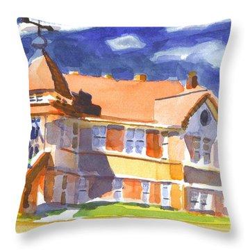The Church On Shepherd Street II Throw Pillow by Kip DeVore