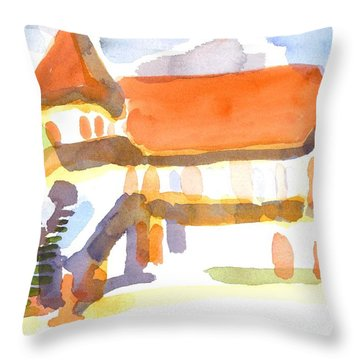 The Church On Shepherd Street V Throw Pillow by Kip DeVore