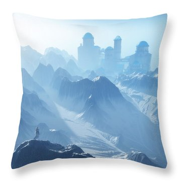 The Cold Light Of Day Throw Pillow by Melissa Krauss