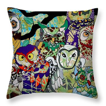 The Color Of Owls Throw Pillow by Amy Sorrell