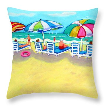 The Color Of Summer  Throw Pillow by Rebecca Korpita