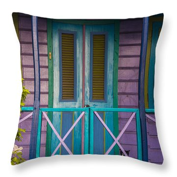 The Color Purple Throw Pillow by Rene Triay Photography