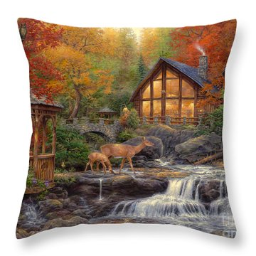 The Colors Of Life Throw Pillow by Chuck Pinson