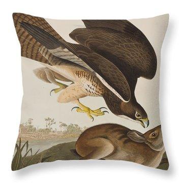 The Common Buzzard Throw Pillow by John James Audubon