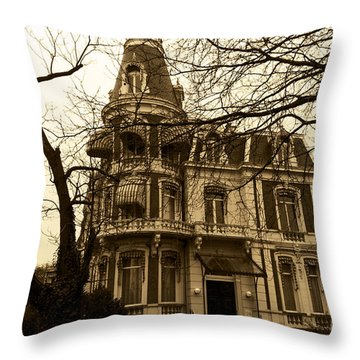 The Corner House Throw Pillow by Pravine Chester