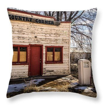 The Country Corner Throw Pillow by Bob and Nancy Kendrick