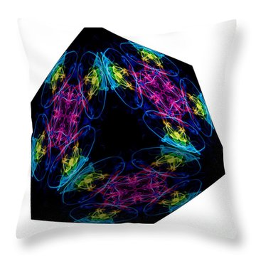 The Cube 13 Throw Pillow by Steve Purnell