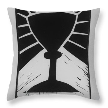 The Cup Throw Pillow by Barbara St Jean