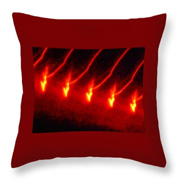 The Dance Of Gold Throw Pillow by James Welch
