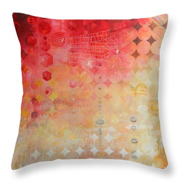 The Decay Of Starlight Throw Pillow by Sandra Cohen