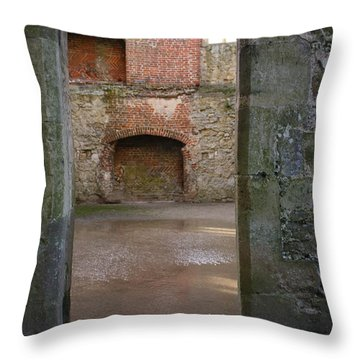The Derelict Titchfield Abbey Hampshire Throw Pillow by Terri Waters