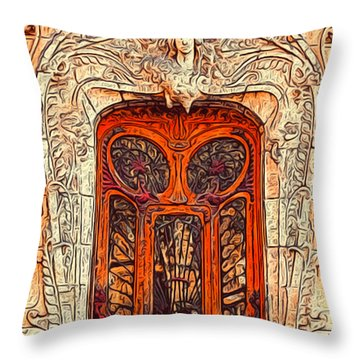 The Door Throw Pillow by Jack Zulli