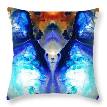 The Dragon - Visionary Art By Sharon Cummings Throw Pillow by Sharon Cummings