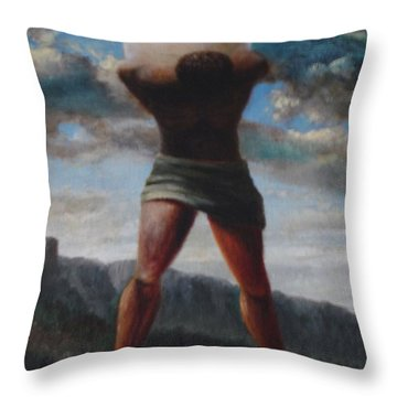 The Egg Of Ron Wood Throw Pillow by Genio GgXpress