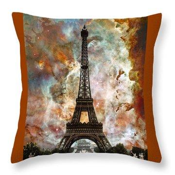 The Eiffel Tower - Paris France Art By Sharon Cummings Throw Pillow by Sharon Cummings