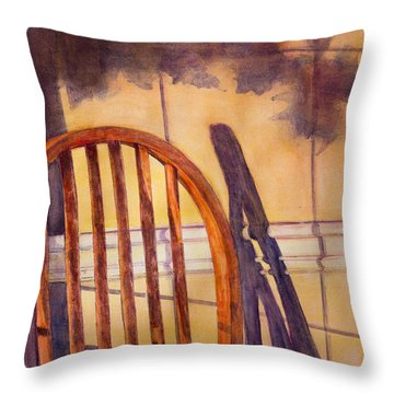 The Empty Chair Throw Pillow by Janet Felts