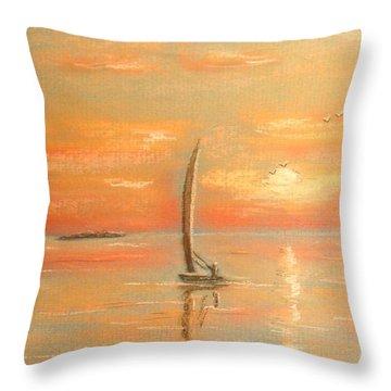 The Evening Light Throw Pillow by The Beach  Dreamer