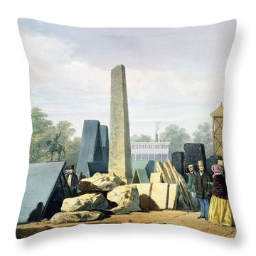 The Exterior, From Dickinsons Throw Pillow by English School