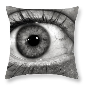 The Eye Throw Pillow by Luke Moore