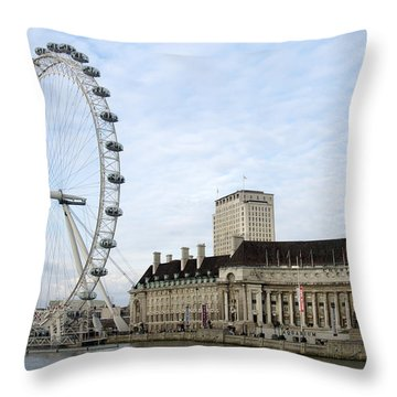The Eye Throw Pillow by Mike McGlothlen
