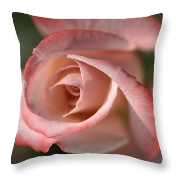 The Eye Of The Rose Throw Pillow by Joy Watson