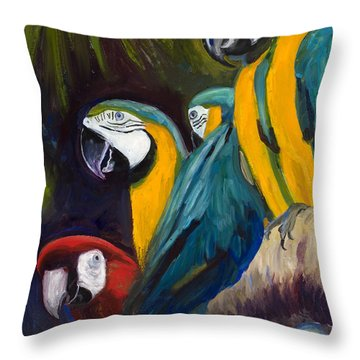 The Feisty One Throw Pillow by Billie Colson