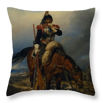 The Field Of Battle Throw Pillow by Paul  Delaroche
