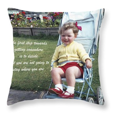 The First Step Throw Pillow by Terri Waters