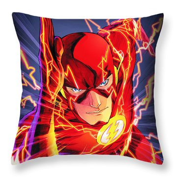 The Flash Throw Pillow by FHT Designs