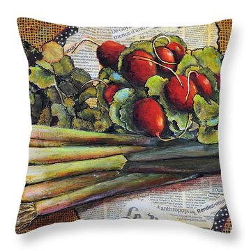 The French Cook Throw Pillow by JAXINE Cummins