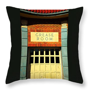 The Garage Throw Pillow by Chris Berry