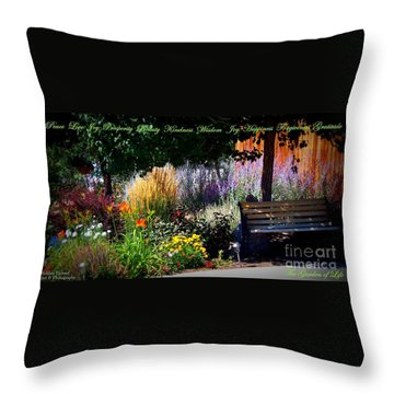 The Garden Of Life Throw Pillow by Bobbee Rickard