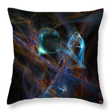 The Ghost Of Ancient Times Throw Pillow by Lance Sheridan-Peel