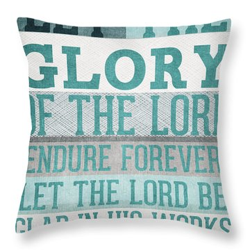 The Glory Of The Lord- Contemporary Christian Art Throw Pillow by Linda Woods