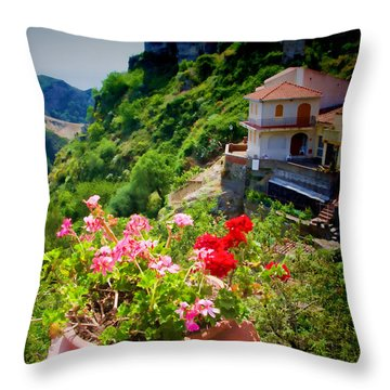 The Godfather Villages Of Sicily Throw Pillow by David Smith