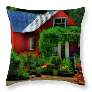 The Good Life Throw Pillow by Lois Bryan