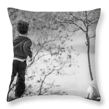 The Goose Chase Throw Pillow by Priya Ghose