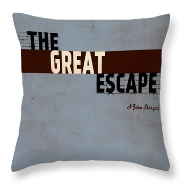 The Great Escape Throw Pillow by Ayse Deniz