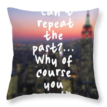 The Great Gatsby Throw Pillow by Mike Taylor