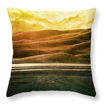 The Great Sand Dunes Throw Pillow by Brett Pfister