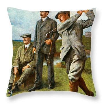 The Great Triumvirate Throw Pillow by Clement Flower