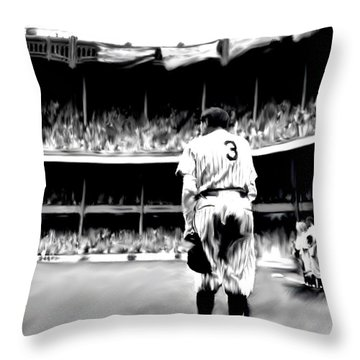 The Greatest Of All  Babe Ruth Throw Pillow by Iconic Images Art Gallery David Pucciarelli