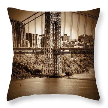 The Gwb Throw Pillow by Arnie Goldstein