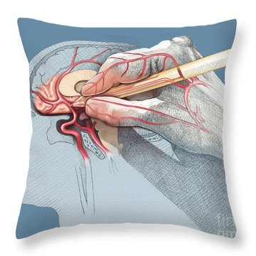 The Hand Knows Throw Pillow by Catherine Twomey