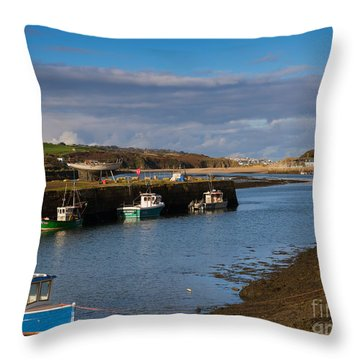 The Harbour At Hayle Cornwall Throw Pillow by Louise Heusinkveld